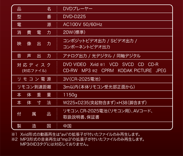 DVD-D225説明3